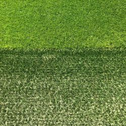 The contrast between the sideline turn (at bottom) and the hybrid playing pitch is striking. Dortmund regularly boasts one of the best playing pitches in Germany. August 2, 2019.