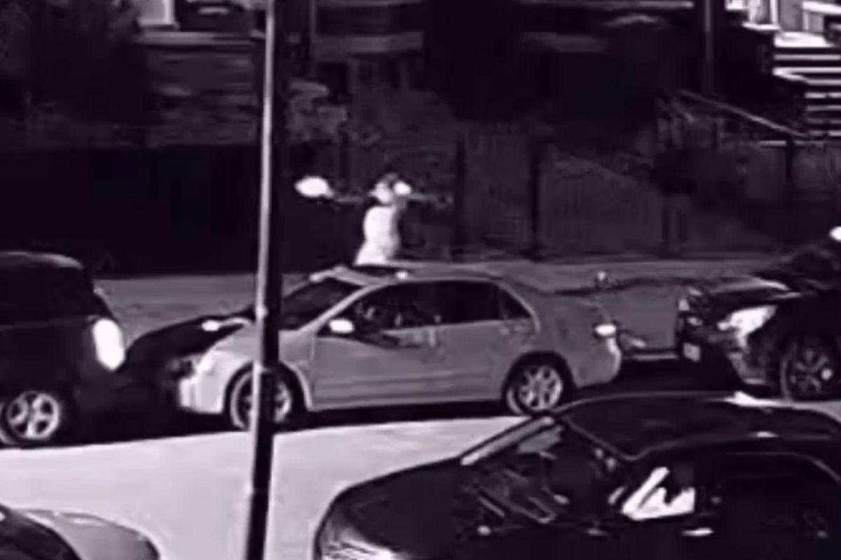 Video footage shows a person suspected of wounding two police officers July 5, 2021, in Austin, according to police.