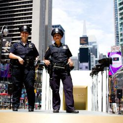 <em>Image via Express</em><br /><br />Officers from the NYPD participated as well.