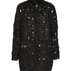 """The punk-inspired, open-knit """"coat-igan"""" was $179 and is now $89.50"""
