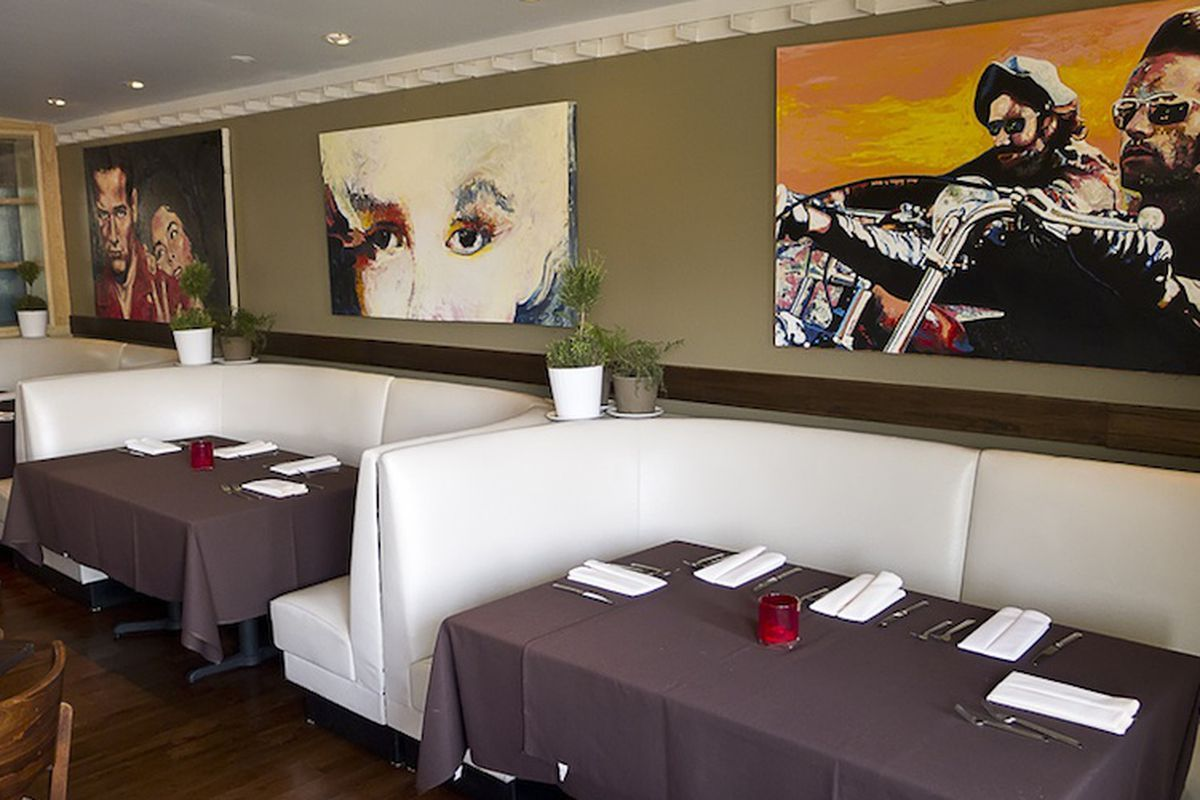 Inside Bistro by Ruggles.
