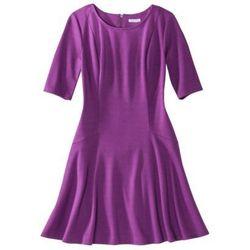 "<a href=""http://www.target.com/p/xhilaration-reg-juniors-ponte-fit-flare-dress-assorted-colors/-/A-14579435"">Ponte Fit & Flare Dress</a>, $18.74 (on sale) at Target"
