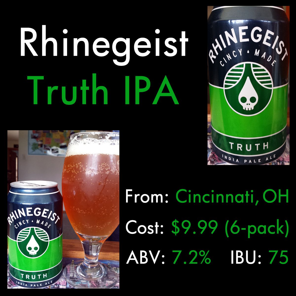 Truth IPA from Rhinegeist Brewing