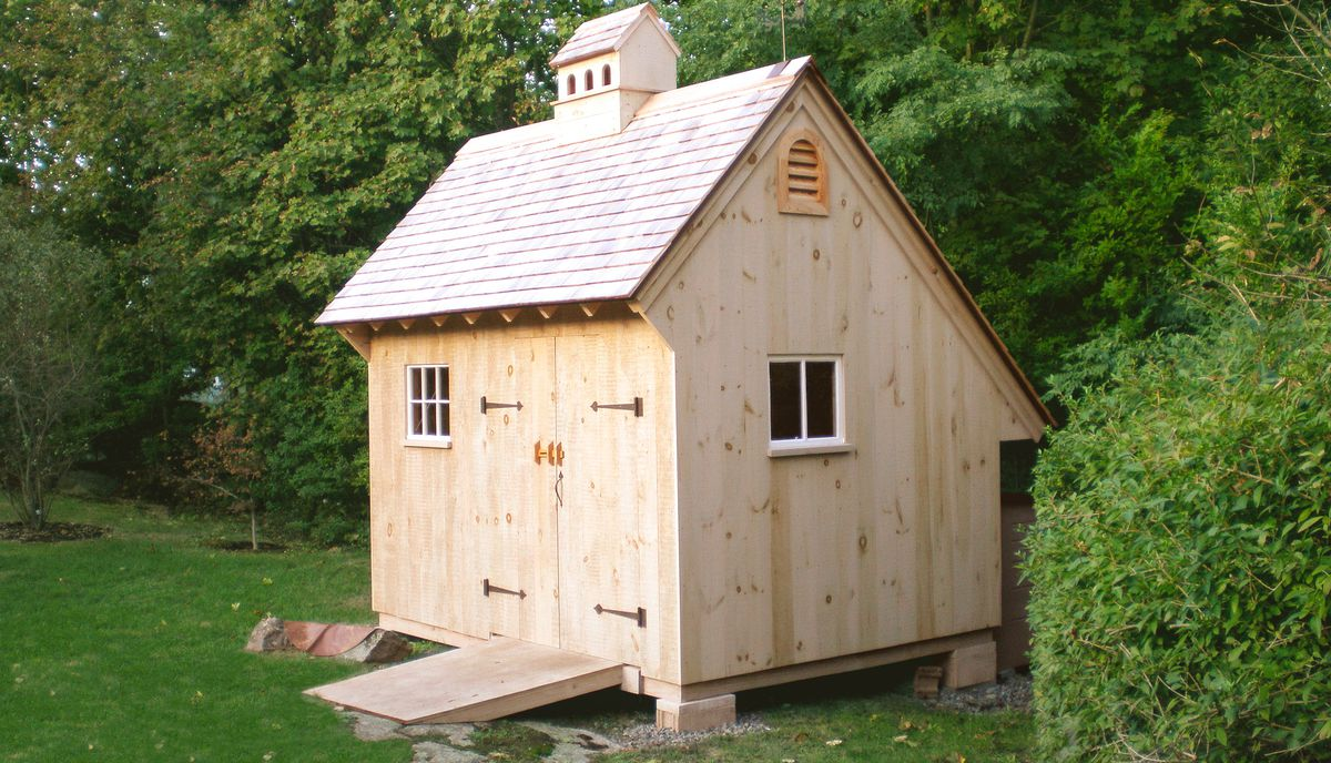 Garden Shed With Catslide Roof