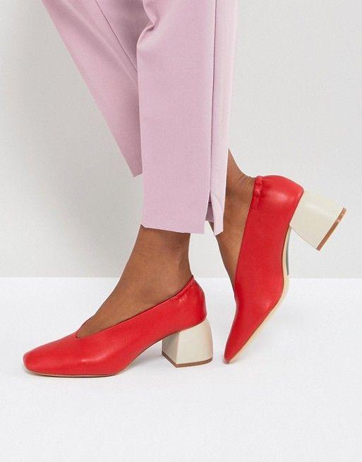 Stradivarius Block Heel Pointed Shoe