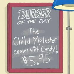 The Child Molester Burger. Episode 1, Human Flesh.