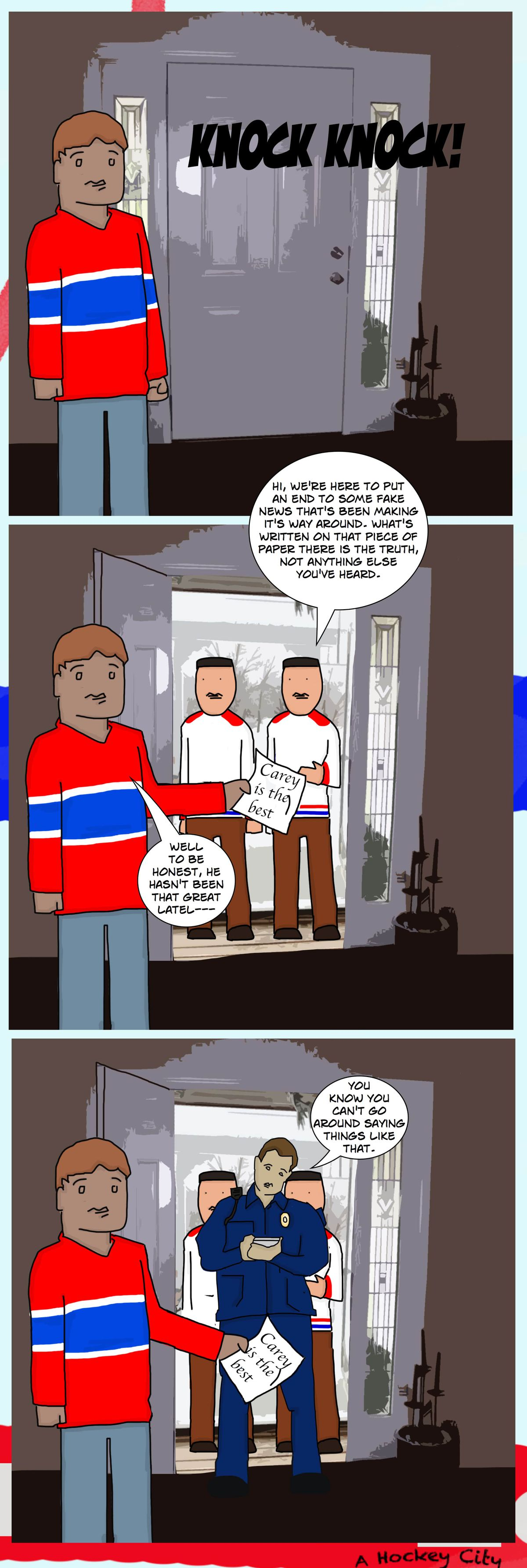A Hockey City Habs Webcomic: Handcuffed - Eyes On The Prize
