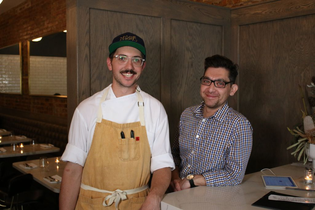Chef Rick Ohlemacher (left) and GM Salvador Lozano-Alvarado of The Heritage restaurant in Forest Park.
