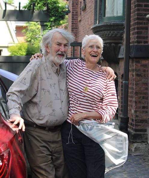 Courtenay Wright with his wife Sara Paretsky. | Facebook