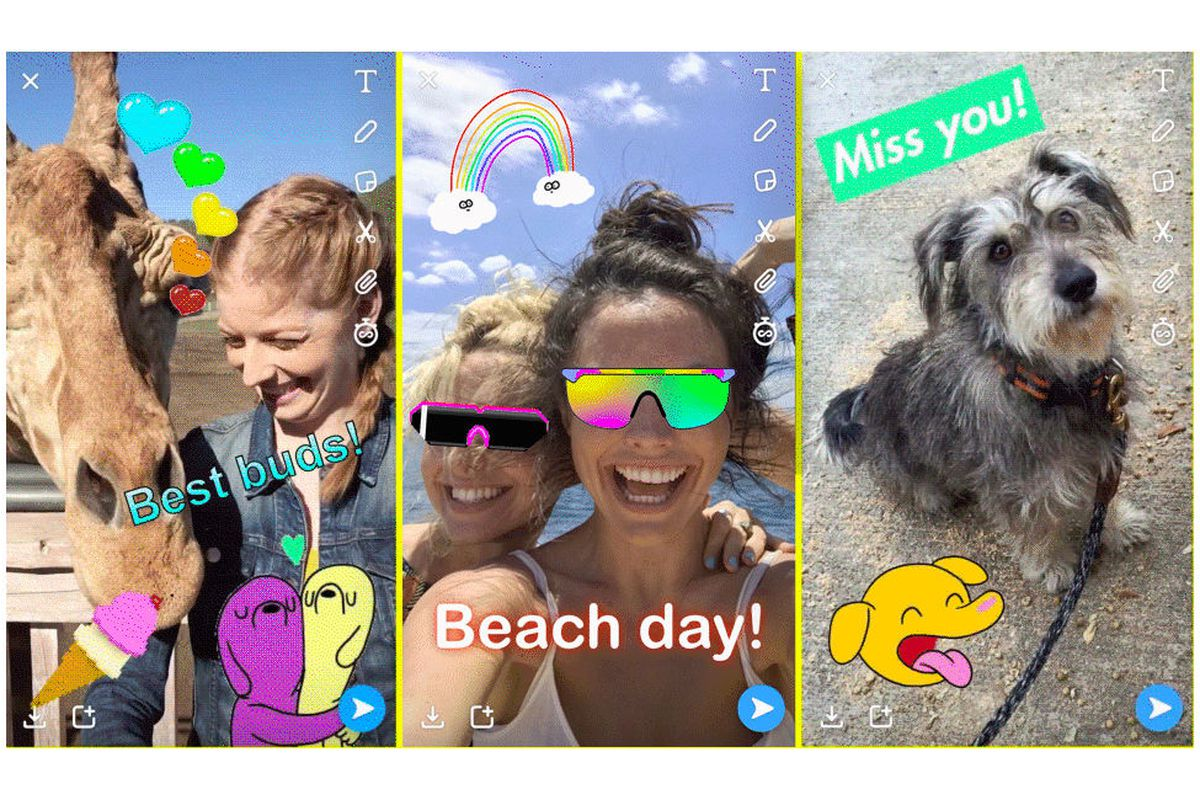 Snapchat copies Instagram for the first time, introduces new GIF stickers