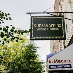 """<b>↑</b> No matter your style or taste, you'll find something you like at <b><a href=""""http://www.chessandthesphinx.com/"""">Chess and the Sphinx</a></b> (252 Knickerbocker Avenue). All eras and looks are celebrated here, from '40s glamour to '60s mod to '90s"""