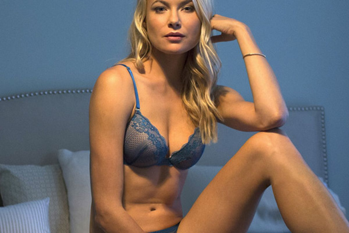 """Photo: <a href=""""https://thirdlove.com/product/peacock-the-equalizer-lace-plunge-bra-with-push-up-bra/210"""">ThirdLove</a>"""