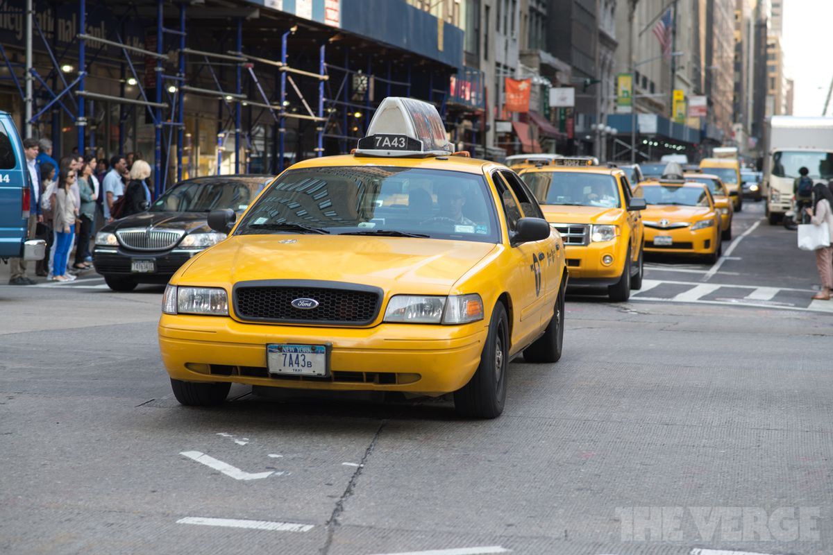 the iconic new york city yellow taxi is finally jumping on the carpooling bandwagon the verge. Black Bedroom Furniture Sets. Home Design Ideas