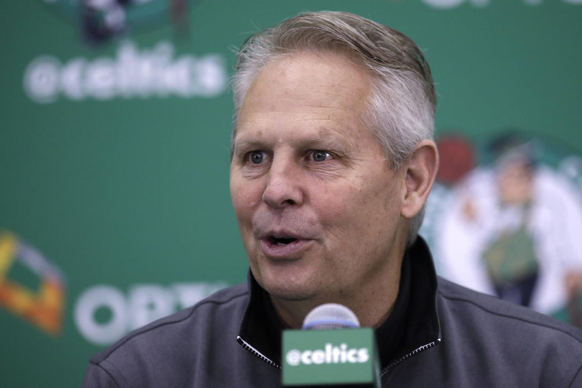 Boston Celtics Danny Ainge at the team's practice facility in Waltham, Mass., Friday, June 23, 2017. Ainge is the main host of his son Tanner's first campaign fundraiser in the race for the 3rd District seat in Congress being vacated by Rep. Jason Chaffet