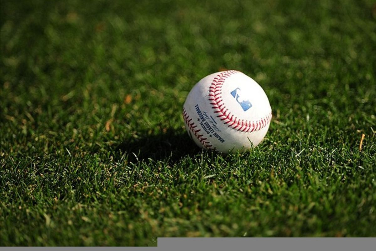 Detailed view of an official baseball sitting on the field during Chicago Cubs spring training workouts at Fitch Park. Credit: Mark J. Rebilas-US PRESSWIRE