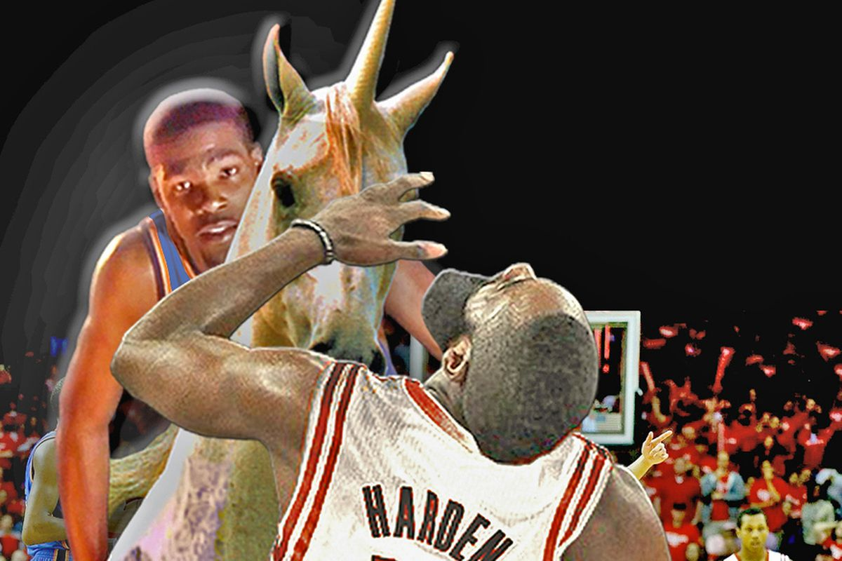 You can't see it, but the unicorn is not actually making contact with Harden