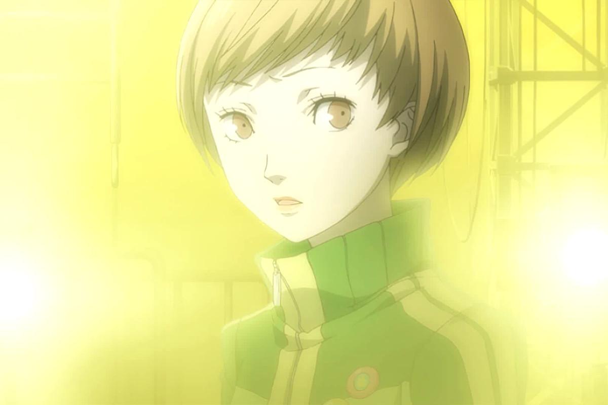 Chie Satonaka from Persona 4 Golden stares forward
