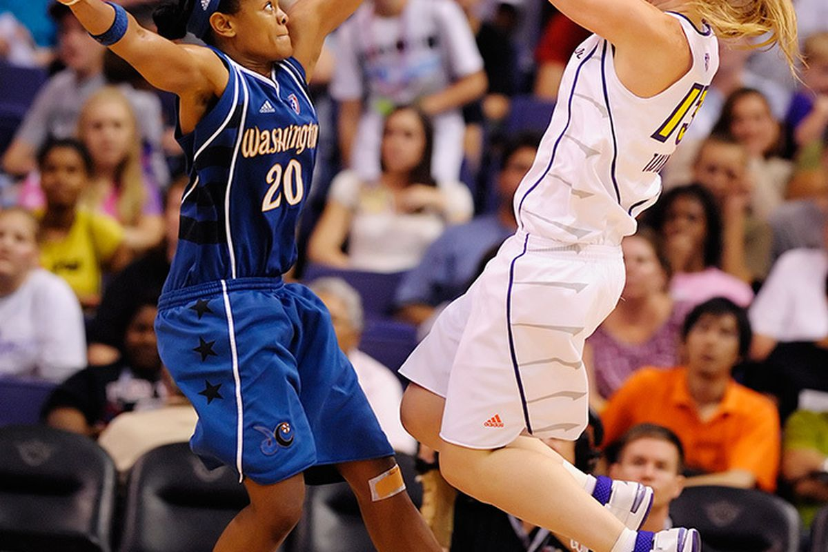 Phoenix Mercury forward Penny Taylor is one of several key players who will be free agents this off season. <em>Photo by Max Simbron</em>