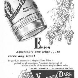 Virginia Dare, America's most purchased wine in the 1900s.