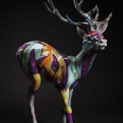 """""""Oh Deer, That's Graffiti"""" by Man One."""