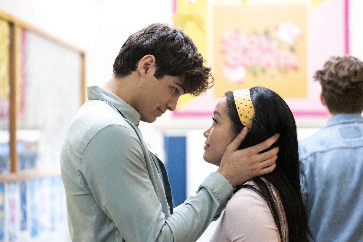 Peter Kavinsky and Lara Jean Covey in To All the Boys: P.S. I Still Love You