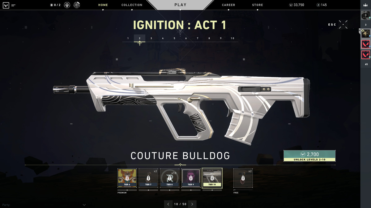 Valorant's Coulture Bulldog skin