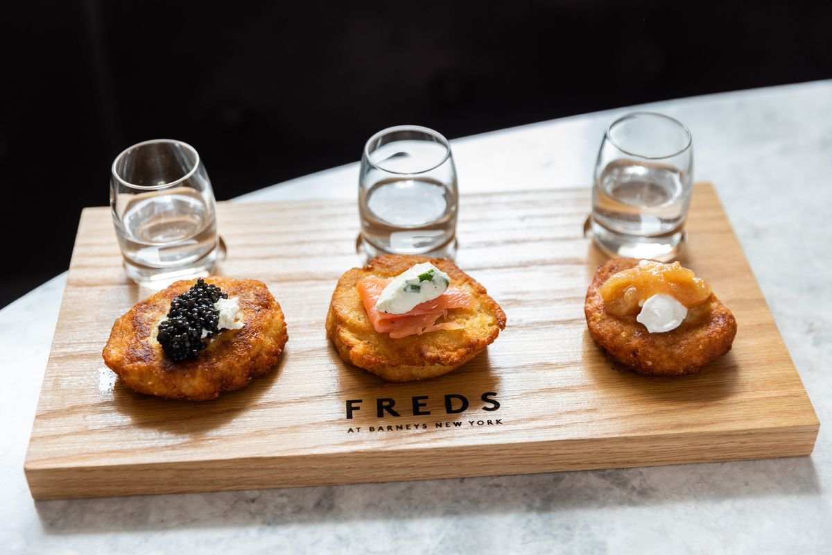 Latkes and vodkas at Freds Downtown