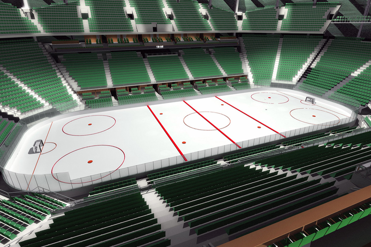 Seattle Hockey Arena Has Green Seats For Fans No Seats For