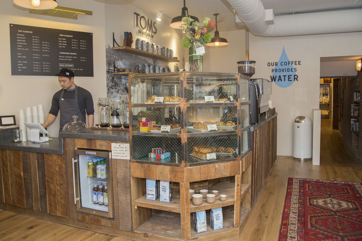 Charitable Shoe Company Toms Opens A Hipster Cafe Downtown