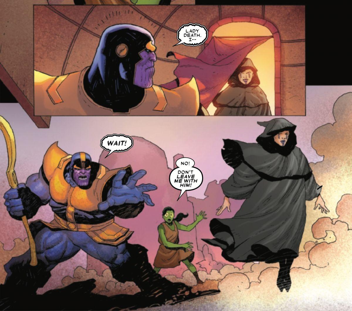 Marvel的Thanos#1在Thanos遇到Gamora方面做出了自己的改变