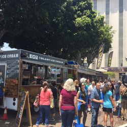 Boba tea, poke, and nitro ice cream were just a few of the food truck offerings.