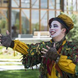 Keaton Delmar Johns stars as The Clown in the Utah Shakespeare Festival's 2017 Greenshow.