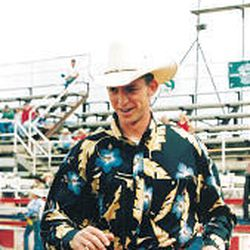 The real John Beck is seen without his clown attire at a recent rodeo.