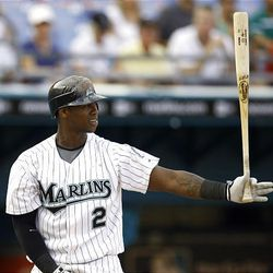 Florida Marlins' Hanley Ramirez bats Sunday, Aug. 16, 2009, during the second game of a baseball doubleheader in Miami against the Colorado Rockies. He is part of the  buzz about the Marlins around the league as he continues as the batting leader.