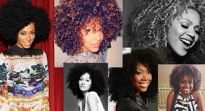 Natural hairstyles.