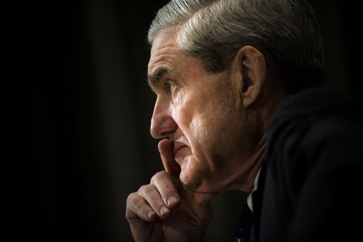 Robert Mueller, then FBI Director, testifies during a hearing of the Senate Appropriations Committee on May 16, 2013 in Washington, DC.