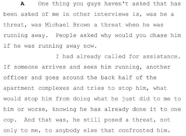 Wilson threat Brown
