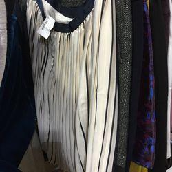 Silk pleated skirt, $40