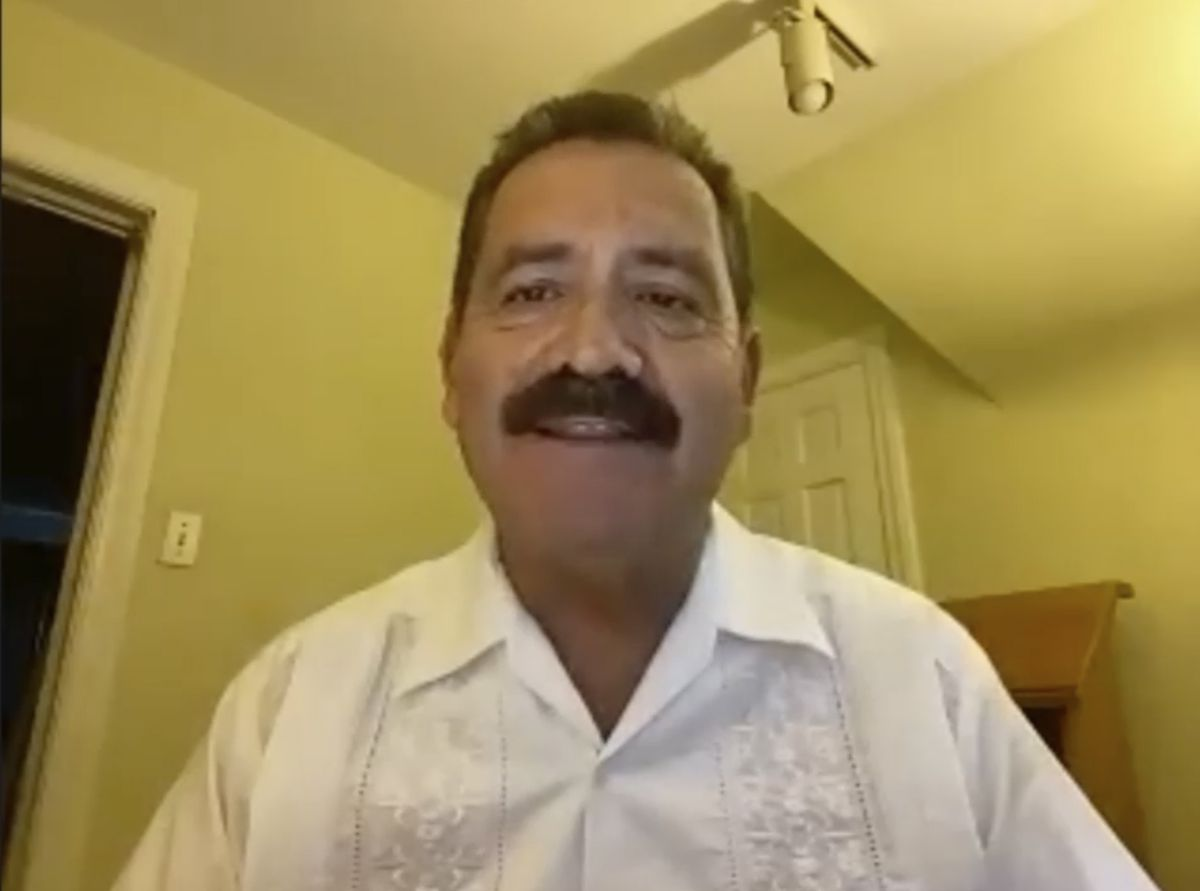"U.S. Rep. Jesus""Chuy"" Garcia participates in the Illinois delegation's Monday night webinar."