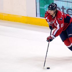 Backstrom Turns With Puck