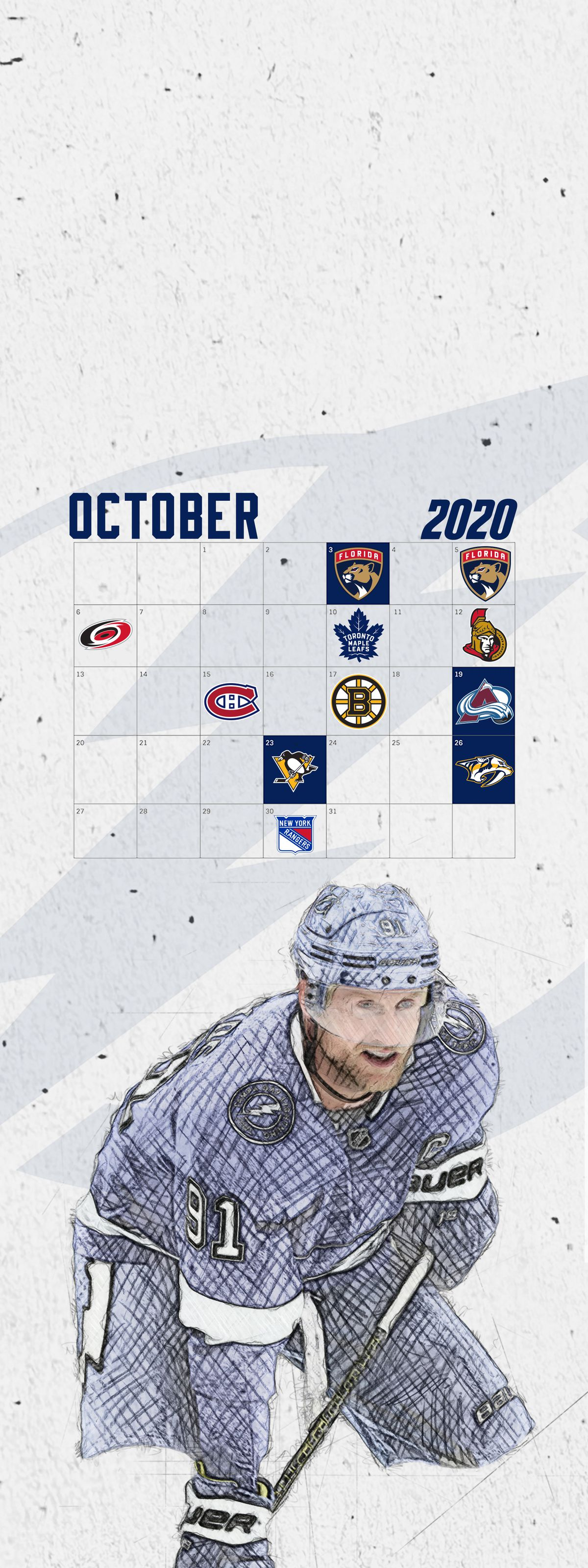 Tampa Bay Lightning October 2019 Wallpaper Schedule Raw Charge