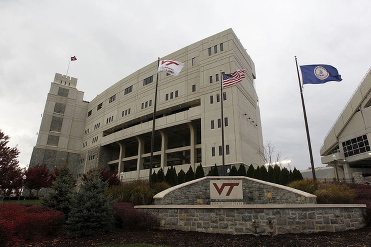 BLACKSBURG VA - NOVEMBER 04: A general view of the entrance to Lane Stadium prior to the game between the Virginia Tech Hokies and the Georgia Tech Yellow Jackets on November 4 2010 in Blacksburg Virginia.  (Photo by Geoff Burke/Getty Images)