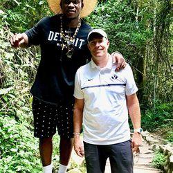 Ziggy Ansah and Chad Lewis in Ghana last summer.