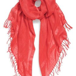 """Halogen linen blend scarf, $29, <a href=""""http://shop.nordstrom.com/s/halogen-linen-blend-scarf/3543967?origin=keywordsearch-personalizedsort&contextualcategoryid=2375500&fashionColor=Red+Cayenne&resultback=126&cm_sp=personalizedsort-_-searchresults-_-1_1_"""