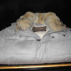 Loro Piana baby cashmere and fox trim hood down filled parka, $6,795
