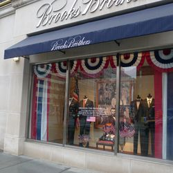 """Presidential history is front and center at Washington <a href=""""http://www.brooksbrothers.com/"""">Brooks Brothers</a> locations."""