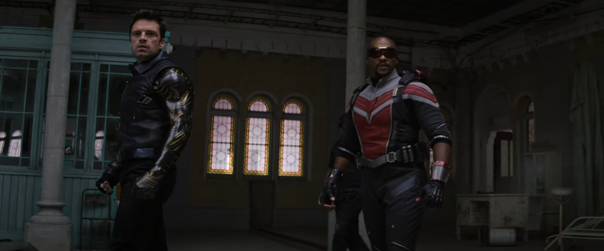 Sam and Buck get ready for a fight in The Falcon and The Winter Soldier