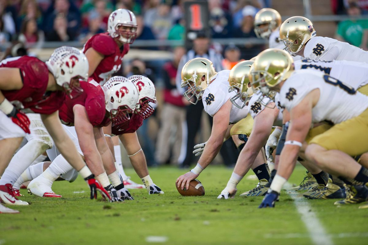 betting line stanford notre dame