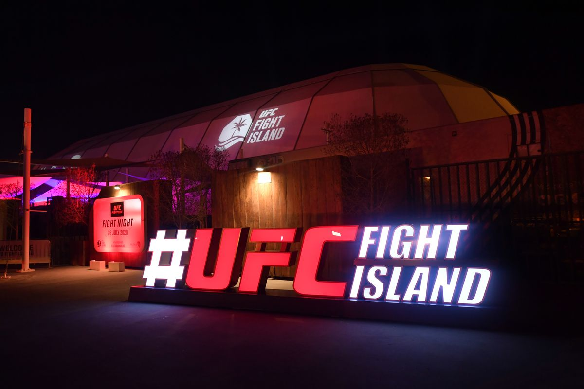 In this handout image provided by UFC, a general view of the Flash Forum on UFC Fight Island prior to the UFC 251 event on July 12, 2020 on Yas Island, Abu Dhabi, United Arab Emirates.