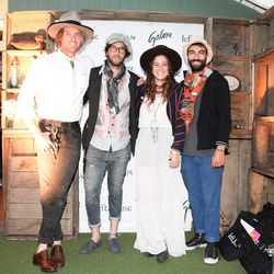 L to R: Nick Fouquet of Westbrook Maker, Maor Cohen of M. Cohen, Tini Courtney of H.O.W.L. and friend. [Photo via Billy Farrell Agency]